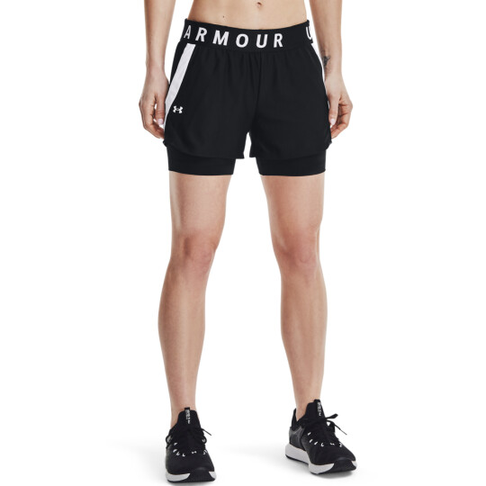 PLAY UP 2-IN-1 SHORTS BLACk